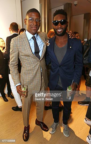 Labrinth and Tinie Tempah attend the dunhill and GQ style presentation to celebrate LCM SS16 at Phillips Gallery on June 14 2015 in London England