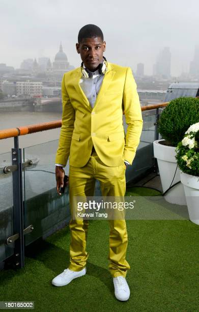 Labrinth attends a photocall to launch the 'Project Noise' campaign with Sennheiser at Oxo Tower Wharf on September 9 2013 in London England