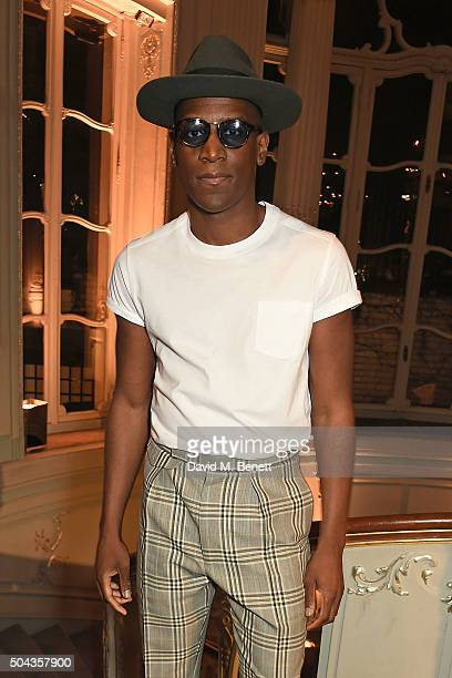 Labrinth attends dunhill Autumn Winter 2016 Collection Presentation LCM on January 10 2016 in London England