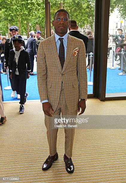 Labrinth attends the dunhill and GQ style presentation to celebrate LCM SS16 at Phillips Gallery on June 14 2015 in London England