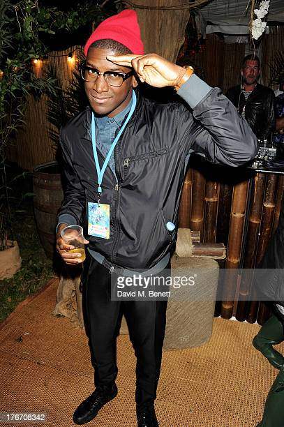 Labrinth attends the Mahiki Coconut Backstage Bar during day 1 of V Festival 2013 at Hylands Park on August 17 2013 in Chelmsford England
