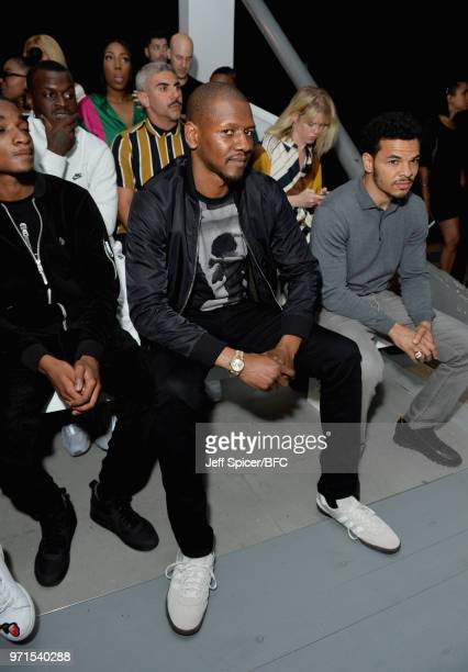 Labrinth attends the What We Wear show during London Fashion Week Men's June 2018 at the BFC Show Space on June 11 2018 in London England