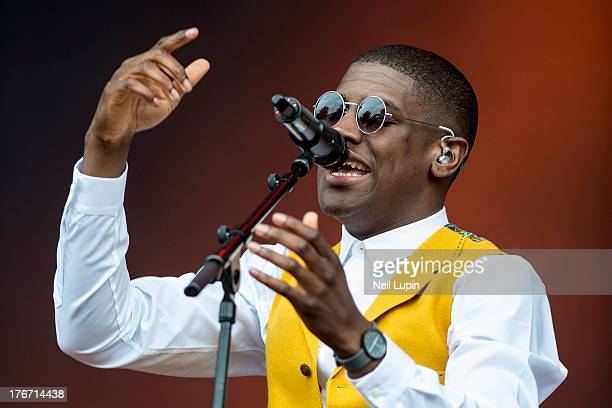 Labrinth performs on day 1 of the V Festival at Hylands Park on August 17 2013 in Chelmsford England
