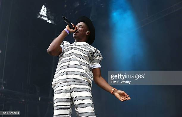 Labrinth performs on stage at Wireless Festival at Finsbury Park on July 5 2014 in London United Kingdom