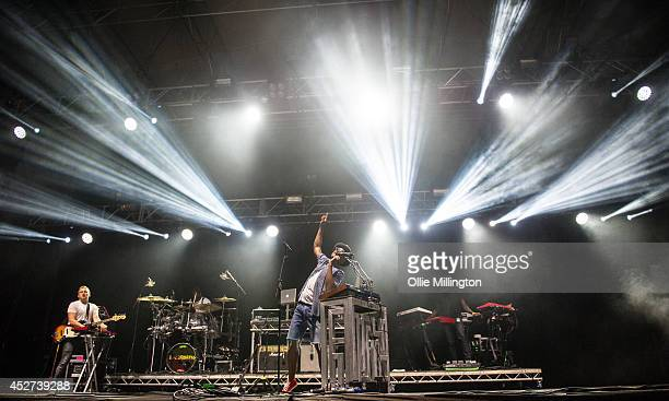 Labrinth performs on stage headlining day 2 of theLeicester Music Festival at Welford Road Stadium on July 26 2014 in Leicester United Kingdom