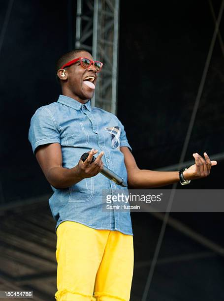 Labrinth performs on the 4 Music Stage on day 1 of the V Festival at Hylands Park on August 18 2012 in Chelmsford England