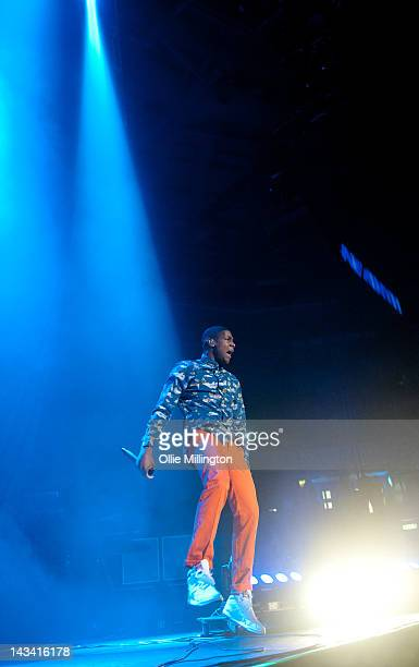 Labrinth performs onstage as a supporting act during the last night of the 2012 Club Paradise European Tour at Nottingham Capital FM Arena on April...