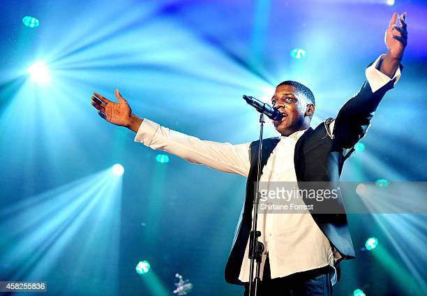 Labrinth performs onstage during Vevo Halloween 2014 Presented By Xperia Lounge at Victoria Warehouse on November 1 2014 in Manchester England