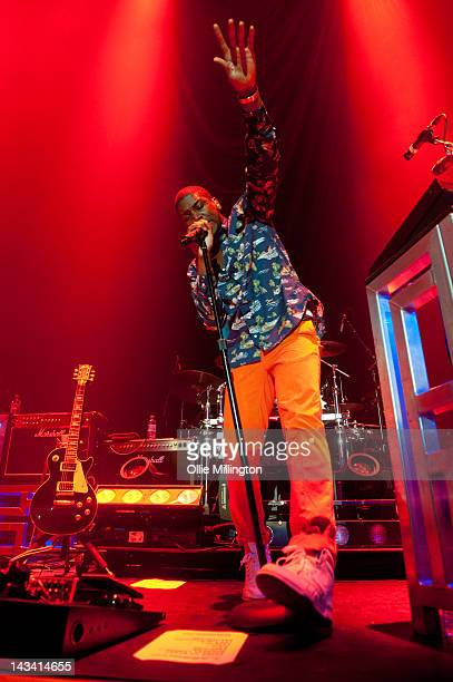 Labrinth performs supporting Drake during the last night of the 2012 Club Paradise European Tour onstage at Nottingham Capital FM Arena on April 25...