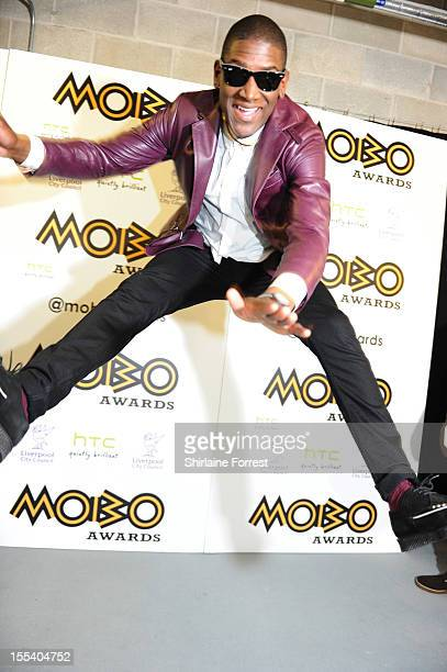 Labrinth poses in the awards room at the 2012 MOBO awards at Echo Arena on November 3 2012 in Liverpool England