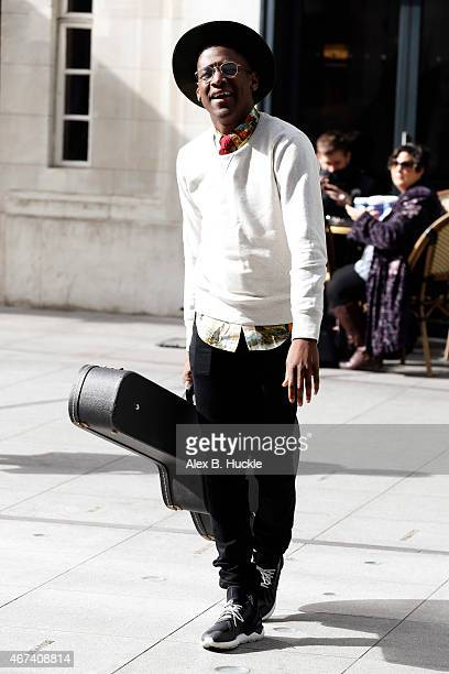 Labrinth seen arriving at the BBC Radio 1 Studios on March 24 2015 in London England