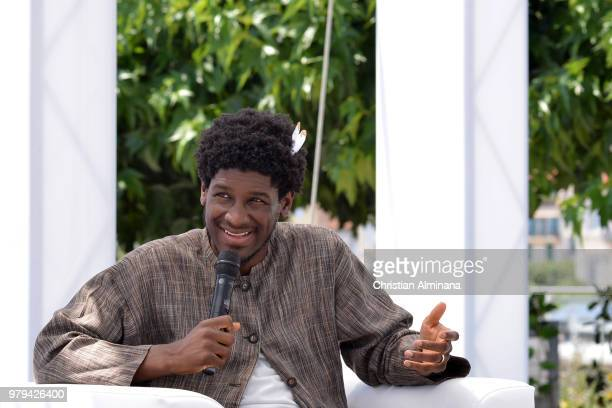 Labrinth speaks onstage during the Sony Music session at the Cannes Lions Festival 2018 on June 20 2018 in Cannes France