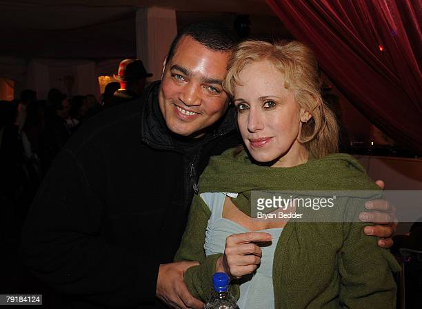 Lab's Steven Adams and producer Elana Krausz attend the PGA Producer's Lab Screening Series during the 2008 Sundance Film Festival on January 23 2008...