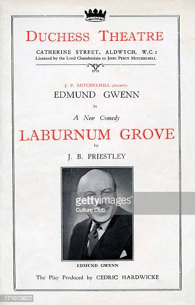 'Laburnum Grove' 'Laburnum Grove' programme cover Duchess theatre Catherine Street Aldwych New comedy by John Boynton Priestley The play was produced...