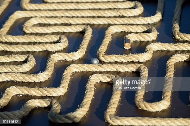 Labyrinth of rope