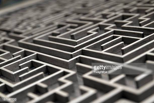labyrinth - maze stock pictures, royalty-free photos & images