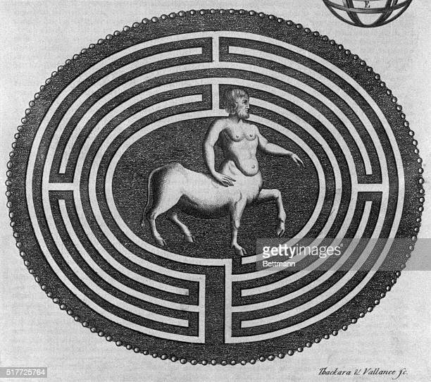 Labyrinth with Minotaur The legendary Labyrinth of the Greeks was in Crete where the Minotaur is located BPA
