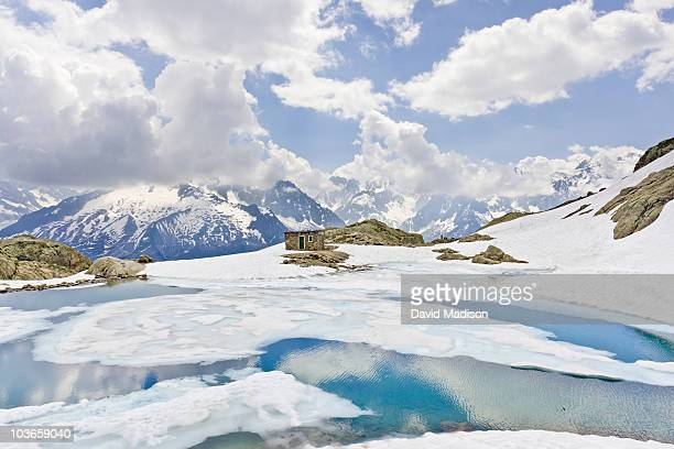 Lac Blanc and Mont Blanc massif.