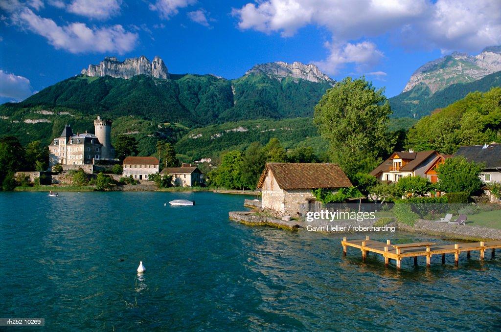 Lac d'Annecy, Haute Savoie, Rhone Alpes, France, Europe : Foto de stock