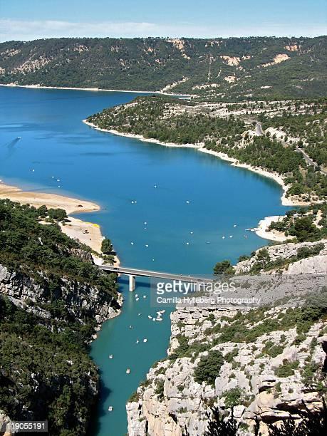 lac de sainte-croix - gorges du verdon photos et images de collection