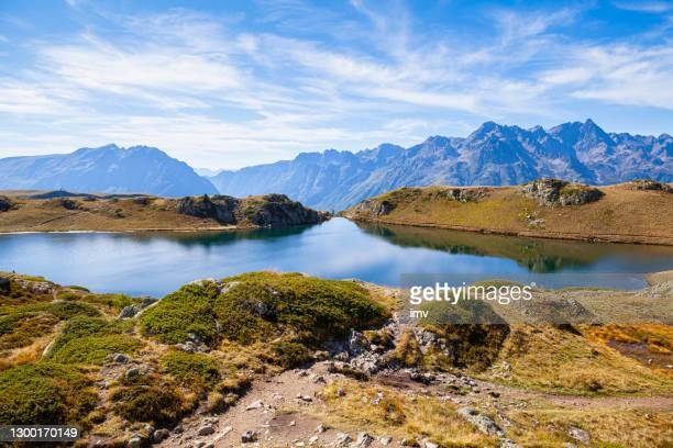 lac noir and belledonne mountain range, summer - alpes maritimes stock pictures, royalty-free photos & images