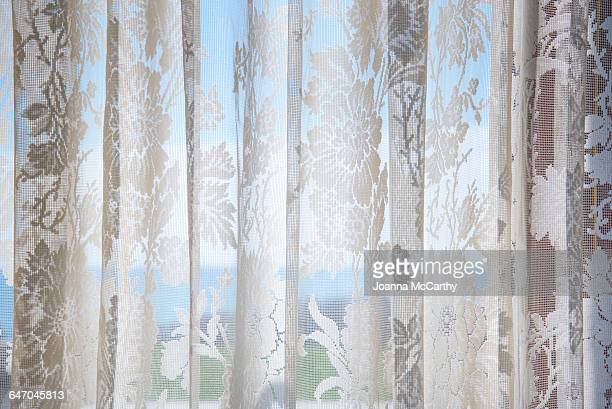 Lace Curtain, Blue Sea