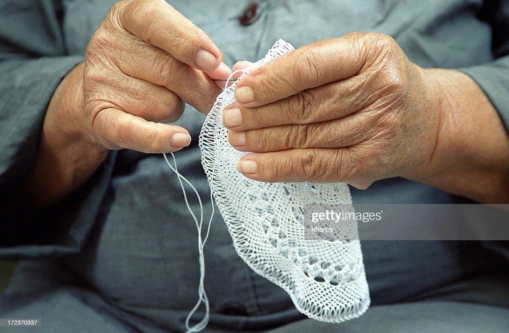 Lace Making : Stock Photo