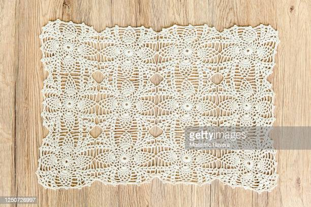 lace tablecloth - lace textile stock pictures, royalty-free photos & images