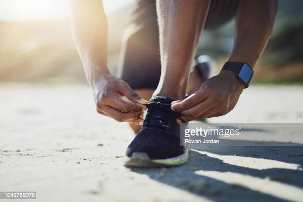lace up and make your way to the end - tie stock pictures, royalty-free photos & images