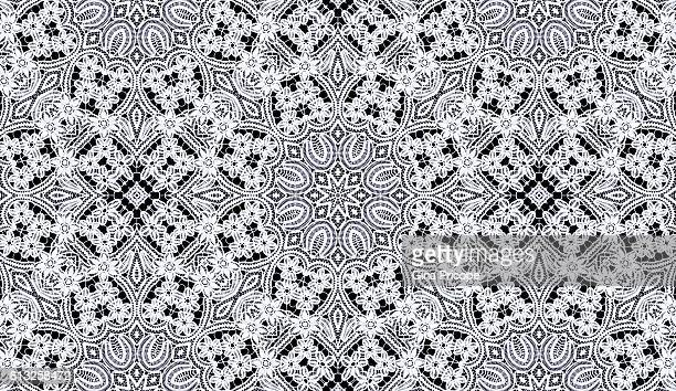 lace with floral patterns. - frilly stock photos and pictures