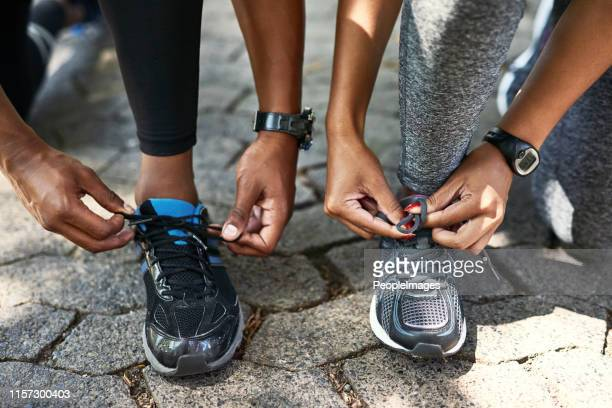 laced up and ready to go - black shoe stock pictures, royalty-free photos & images