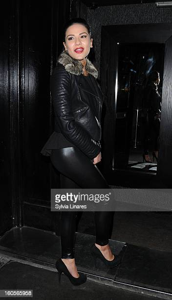 Lacey Banghard arriving at Anaya Club on February 2, 2013 in London, England.