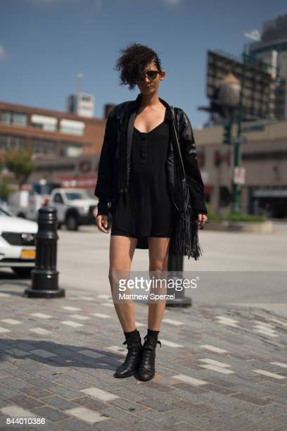 Lacey Bollinger is seen attending Malan Breton during New York Fashion Week wearing Los Angeles County on September 7 2017 in New York City