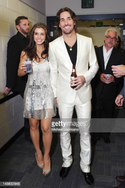 Lacey Buchanan and Jake Owen attend the 2012 CMT Music awards at the Bridgestone Arena on June 6 2012 in Nashville Tennessee