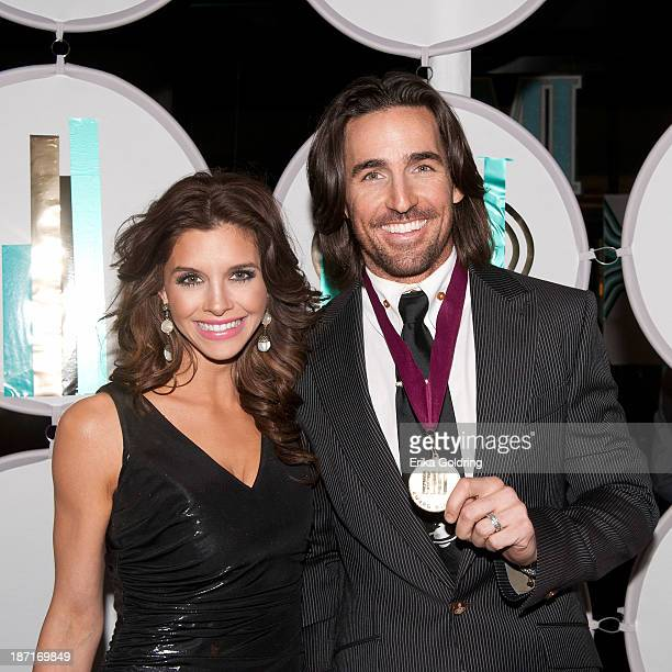 Lacey Buchanan and Jake Owen attend the 61st annual BMI Country awards on November 5 2013 in Nashville Tennessee
