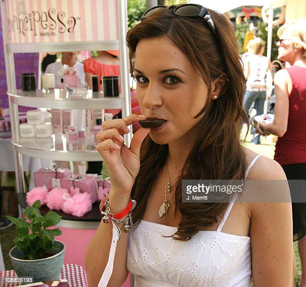 Lacey Chabert and Atkins during UPP Silver Spoon Hollywood Buffet Day One at Private Estate in Los Angeles CA United States