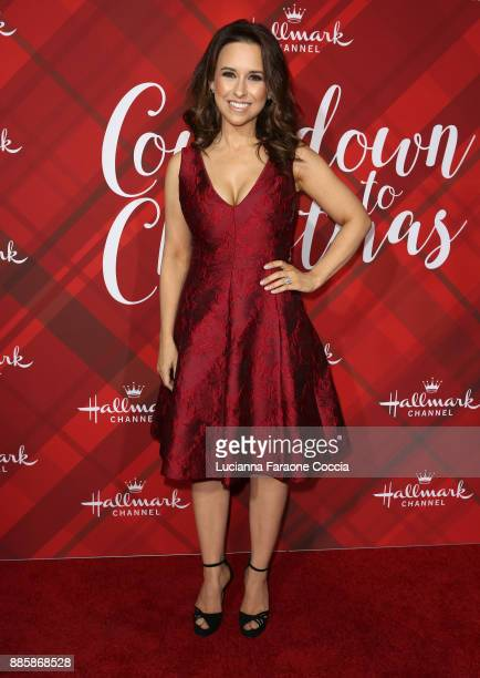 Lacey Chabert attends Hallmark Channel's 'Countdown To Christmas' celebration and VIP screening of 'Christmas At Holly Lodge' at The Grove on...