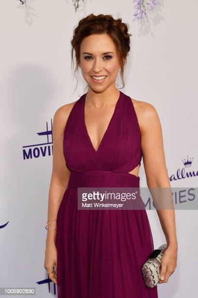 Lacey Chabert attends the 2018 Hallmark Channel Summer TCA at Private Residence on July 26 2018 in Beverly Hills California