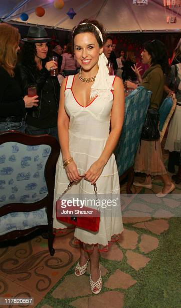 Lacey Chabert during Disney's Alice in Wonderland Mad Tea Party at Private Residence in Los Angeles California United States