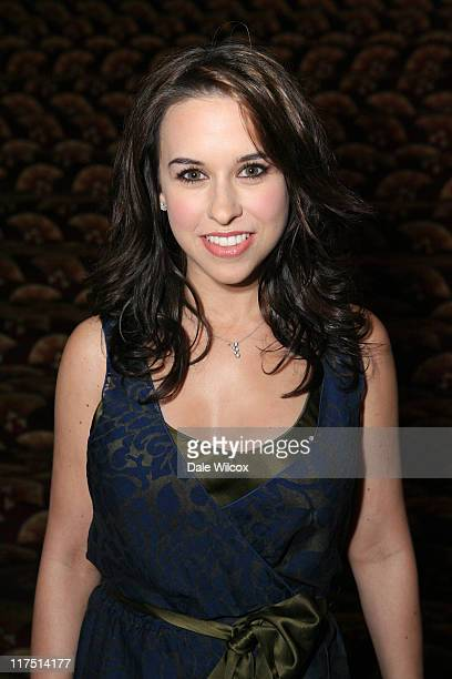 Lacey Chabert during GenArt and Acura Present The New Garde Fashion Show Backstage at Park Plaza Hotel in Los Angeles California United States