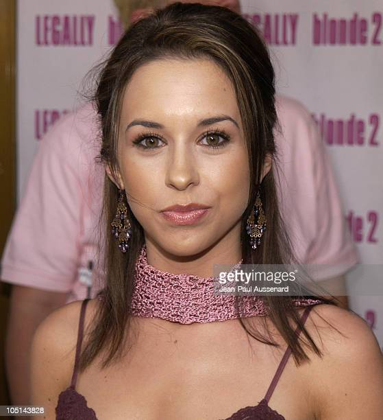 "Lacey Chabert during ""Legally Blonde 2: Red, White & Blonde"" Los Angeles Screening at Mann National Theatre in Westwood, California, United States."