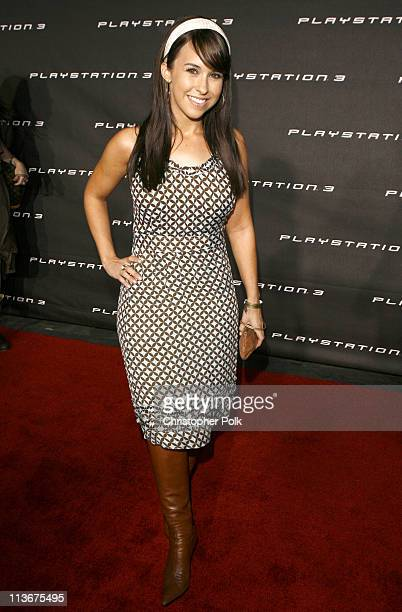 Lacey Chabert during PLAYSTATION 3 Launch Red Carpet at 9900 Wilshire Blvd in Los Angeles California United States