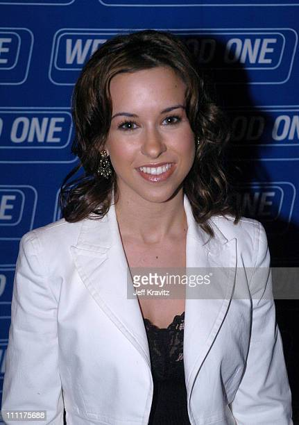 Lacey Chabert during The 46th Annual Grammy Awards Westwood One Backstage at the Grammys Day 2 at Staples Center in Los Angeles California United...