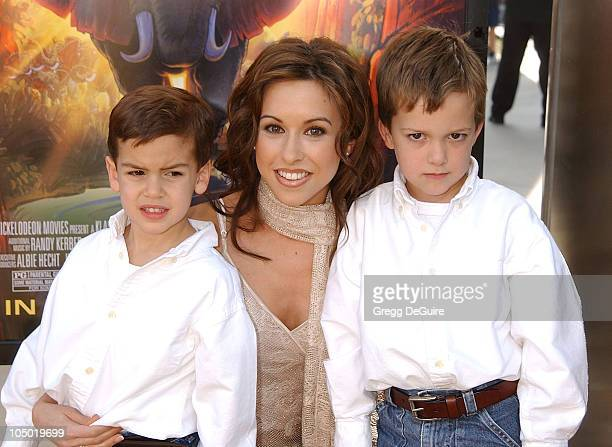 "Lacey Chabert & nephews Ethan & Alec during ""The Wild Thornberrys Movie"" Premiere at Cinerama Dome in Hollywood, California, United States."