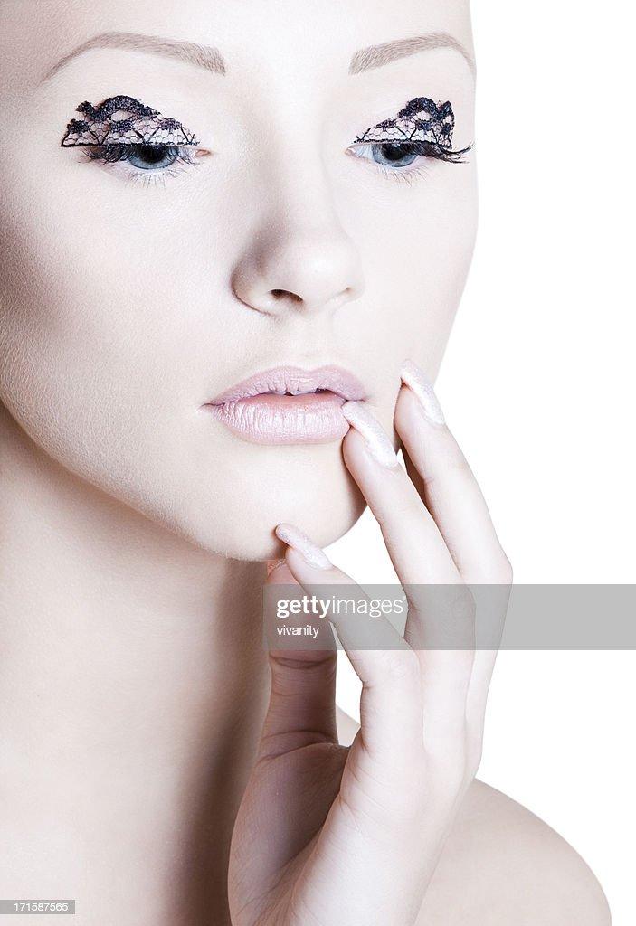 Lacey Eyes : Stock Photo