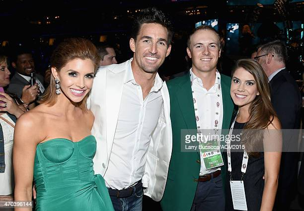 Lacey Owen recording artist Jake Owen professional golfer Jordan Spieth and event coordinator Annie Verret attend the 50th Academy Of Country Music...