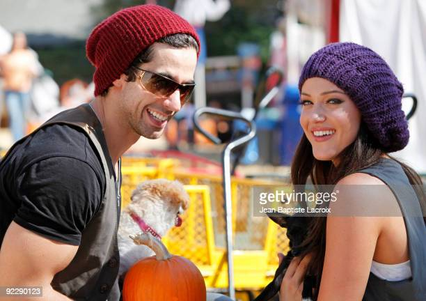 Lacey Schwimmer and DJ Guthrie visit Mr Bones Pumpkin Patch on October 22 2009 in Los Angeles California