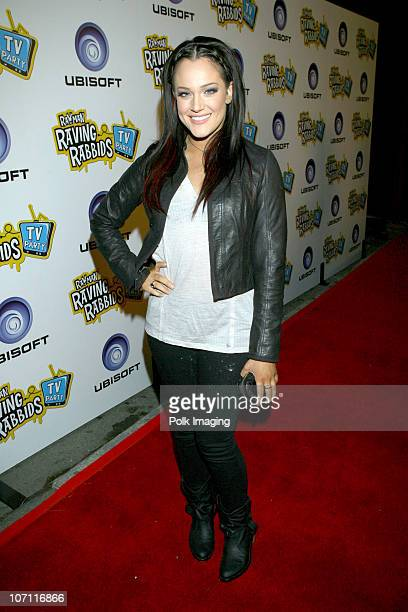 Lacey Schwimmer arrives to the Ubisoft Presents Rayman Raving Rabbids TV Party Video Game Launch Party at Apple Lounge in West Hollywood CA on...
