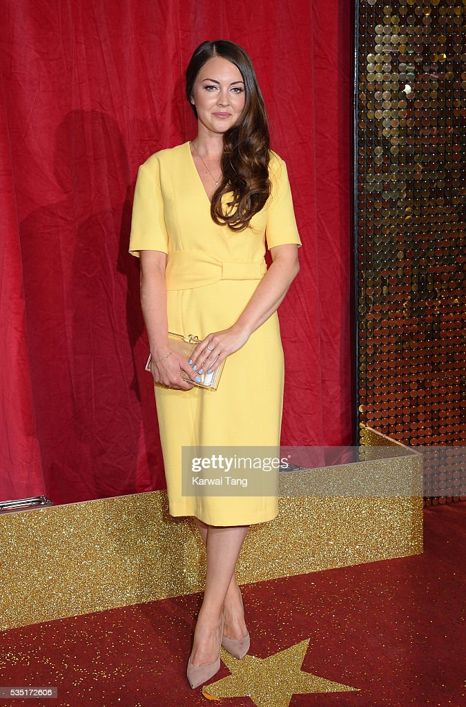 Lacey Turner arrives for the British Soap Awards 2016 at the Hackney Town Hall Assembly Rooms on May 28, 2016 in London, England.