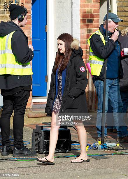 Lacey Turner is spotted filming up and coming scenes of Eastenders on May 7 2015 in London England